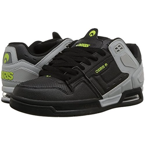 Osiris Shoe Peril LtGrey/Black/LIme -