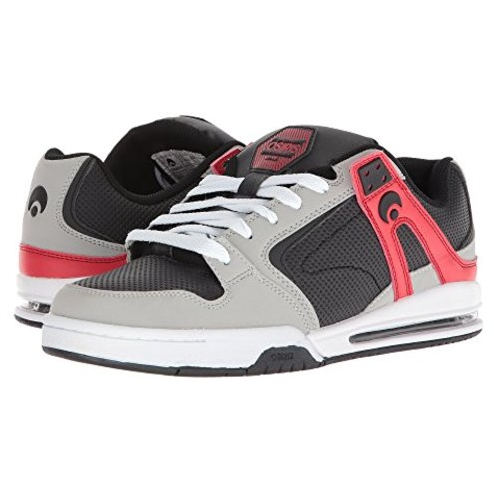 Osiris Shoe PXL LtGrey/Black/Red -