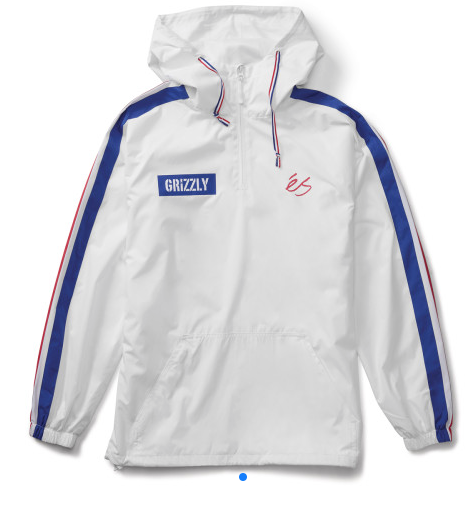 Es x Grizzly Match Anorak White -