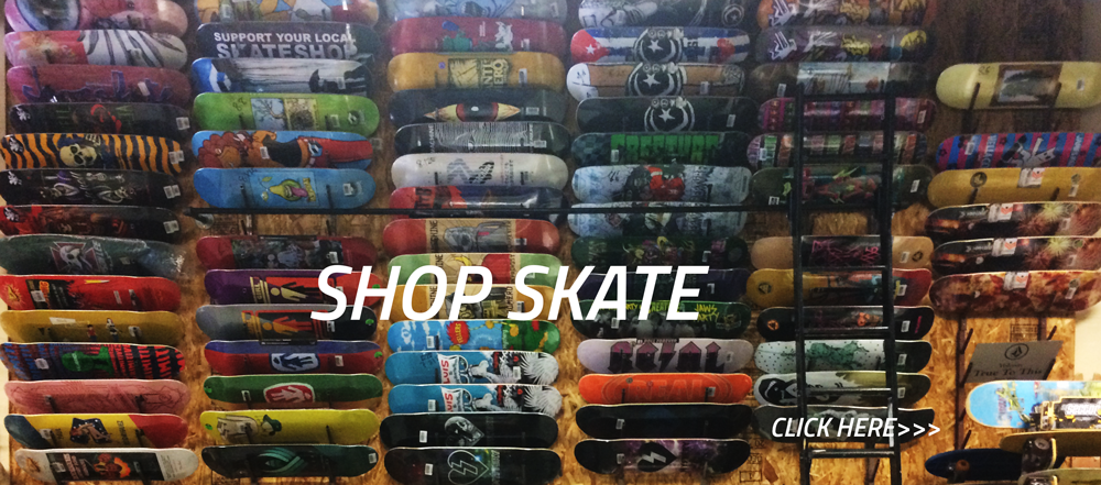 ONE WAY BOARDSHOP HAS A GREAT SELECTION OF SKATEBOARDS FOR TONS OF BRANDS. IF WE DON'T CARRY IT LET US KNOW AND WE WILL GET IT. A SKATE SHOP IS MORE THAN A PLACE TO JUST BUY A BOARD, IT IS A PLACE WHERE SKATERS CAN COME AND BE A PART OF A COMMUNITY OF SKATERS THAT DO IT FOR THE LOVE.