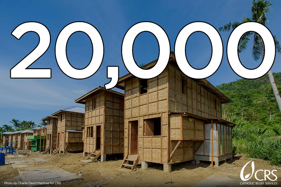 New homes line the streets in many areas once destroyed by typhoon haiyan.