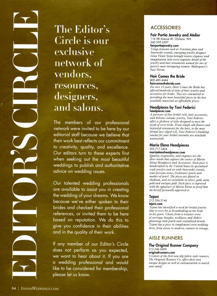 Inside Weddings Magazine Summer 2010