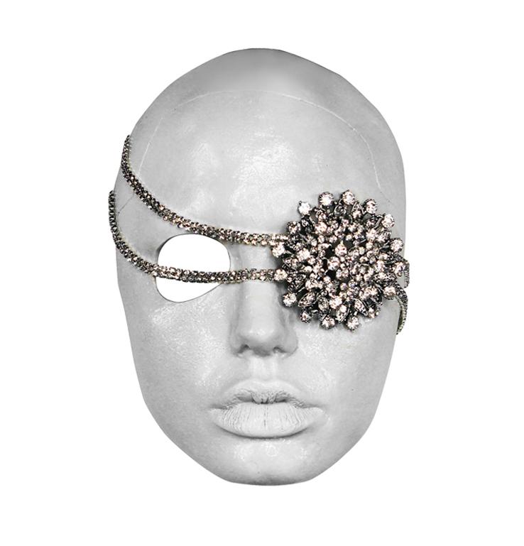 RENTZ X JOLIE DEATH MASK £100.00 - Crystal Eyepatch - Crystal Trim