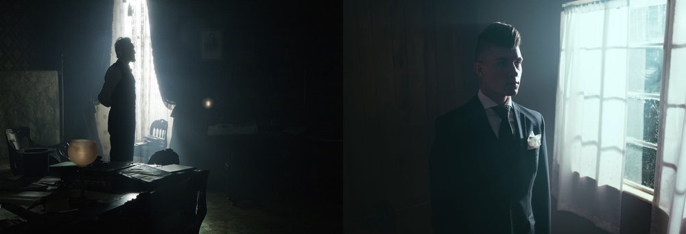 Left: Lincoln - Janusz Kaminski, ASC                              Right: test shot with light/fog