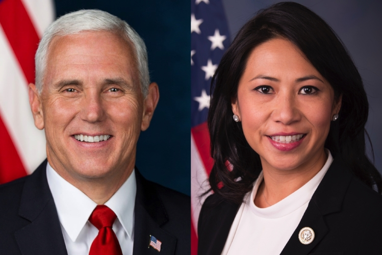 Vice President Mike Pence and Congresswoman Stephanie Murphy