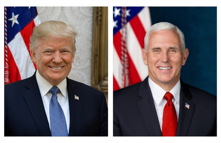 Official Portrait of President Donald Trump and Vice President Mike Pence