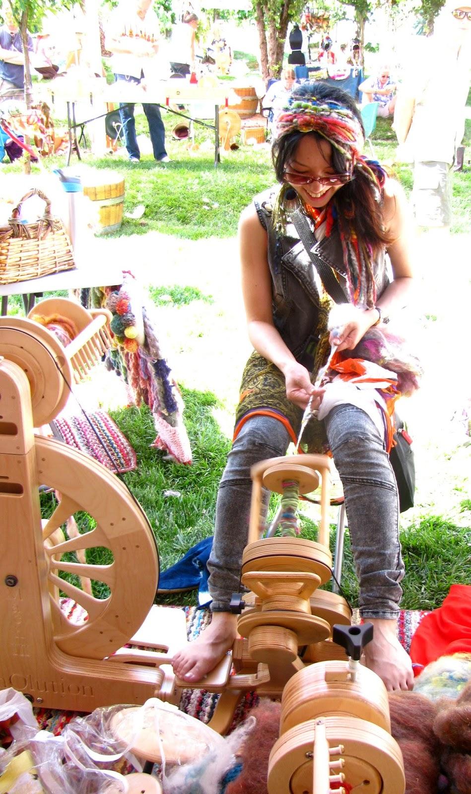 The Hopper is the Original Art Yarn Travel wheel.