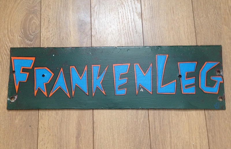"""FrankenLeg"" - a sign for Taylor Phinney"