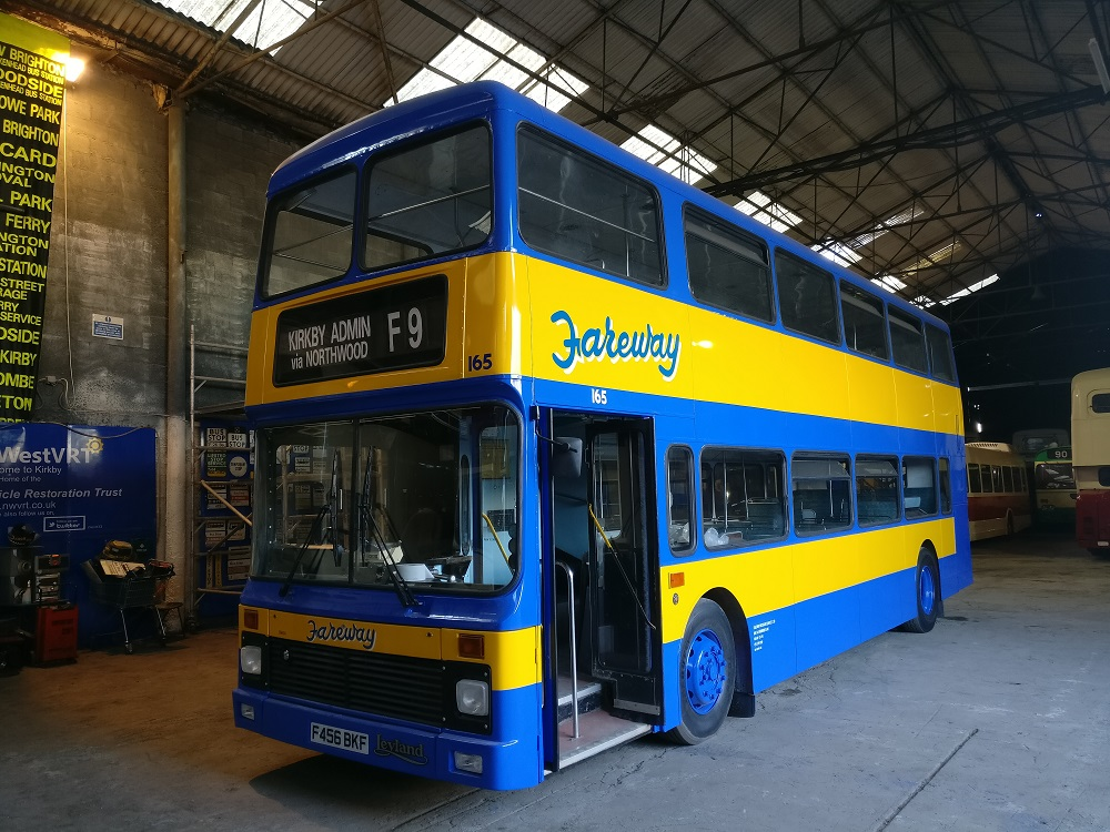 A restored Fareway bus I had the privilege of painting the original livery back onto.