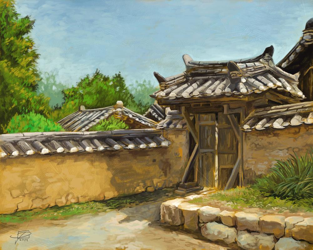 Korean House Gate