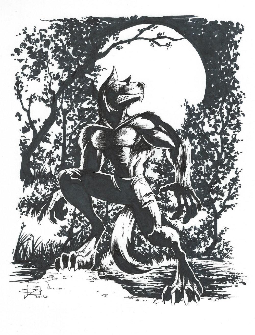 Werewolf - Inktober 2016