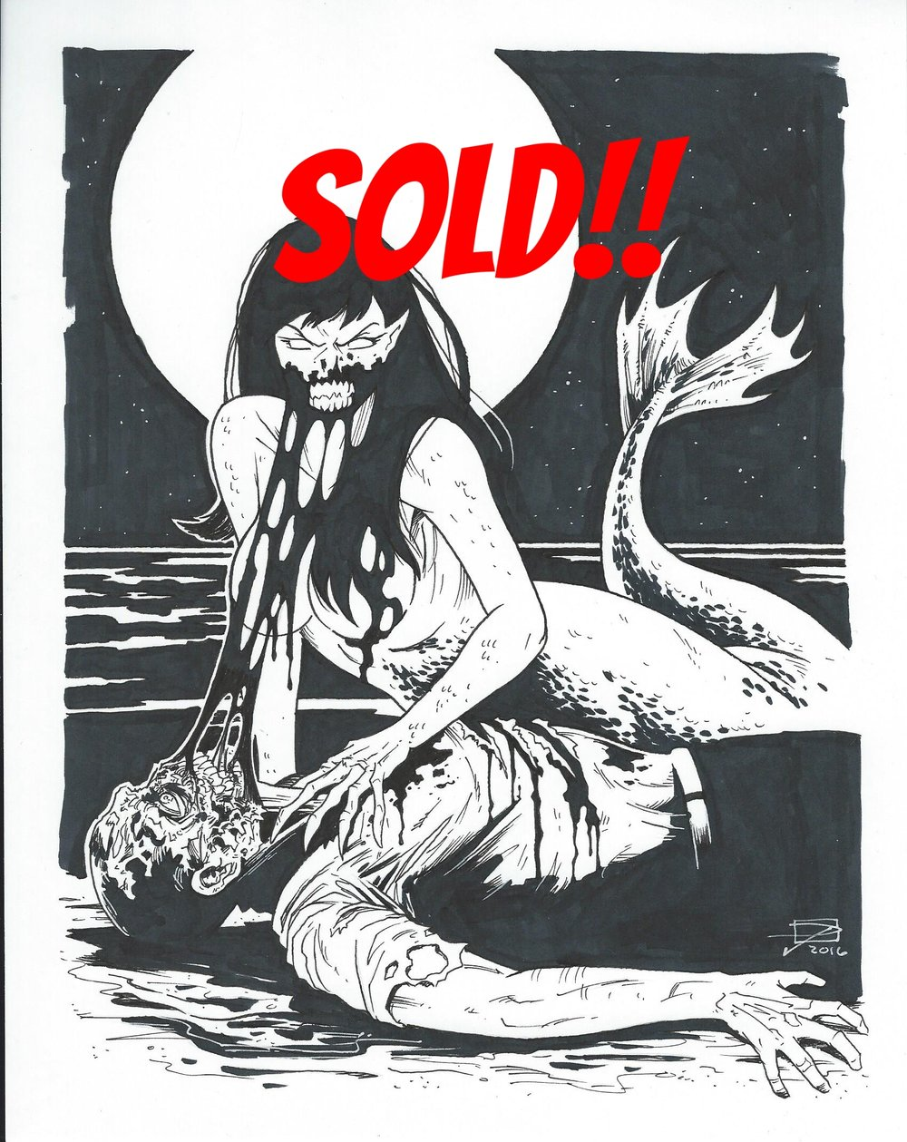 Mermaid - Inktober 2016