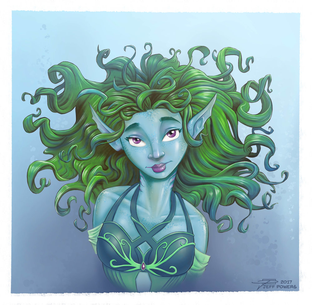 Water Elf portrait