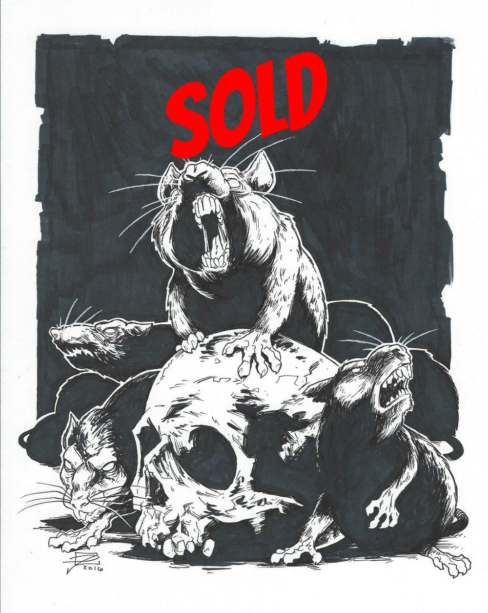Rats - Inktober 2016