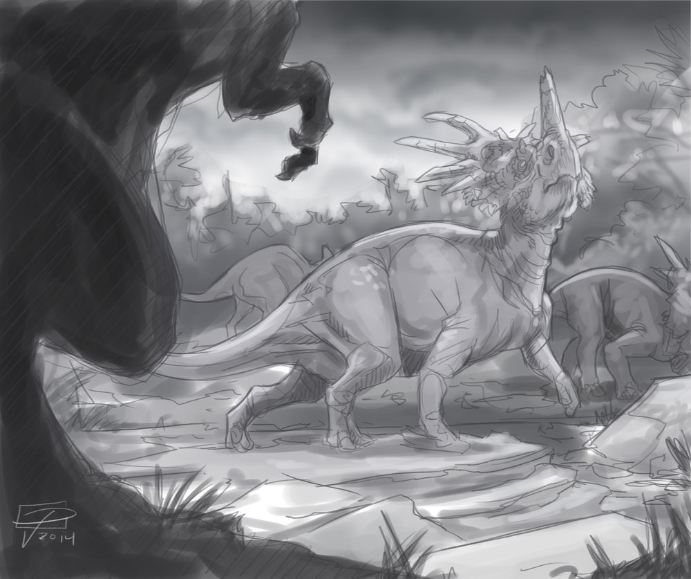 Threat to the Herd sketch