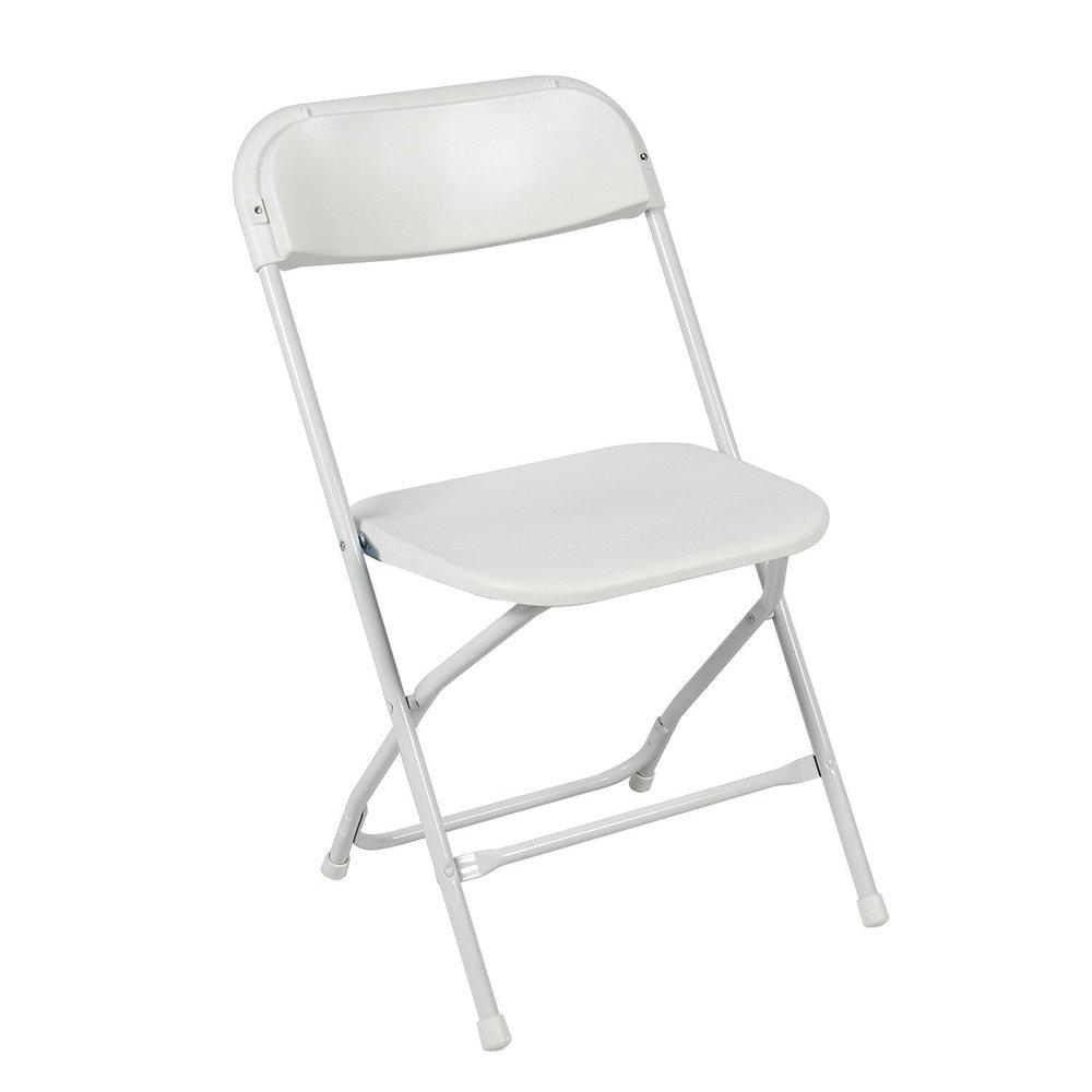 White Folding Chair - $2 Each