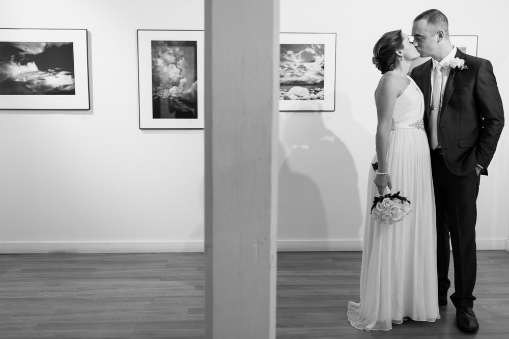 Beautiful first look at the Delaplaine Arts Center wedding in downtown Frederick, Maryland.
