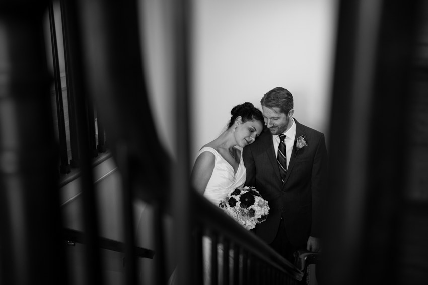 Romantic Staircase Bride and Groom