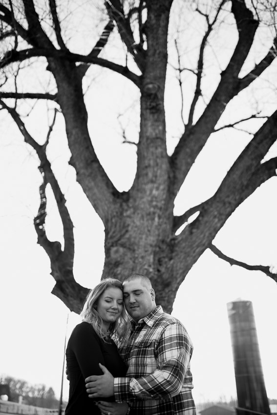 Creative Black and White Engagement
