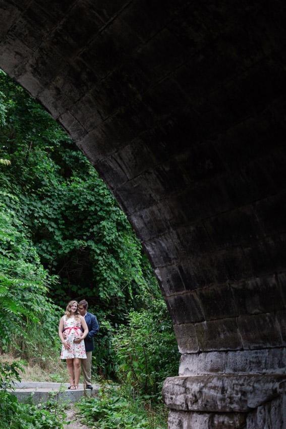 Romantic Park Bridge Engagement