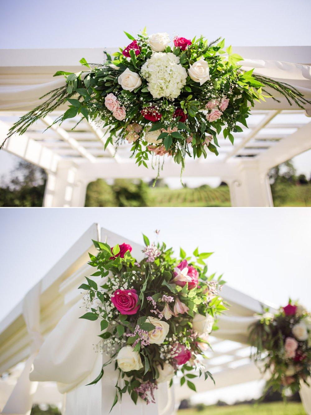 Flowers on a Wedding Gazebo