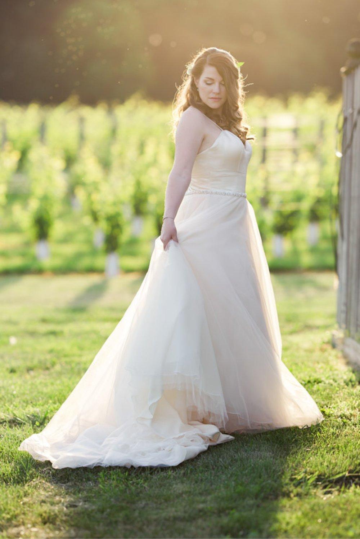 Beautiful Sunset Winery Bride