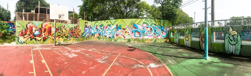 Basket Ball Court Graffiti San Juan
