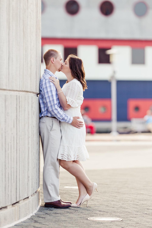 Inner Harbor Kiss Engagement
