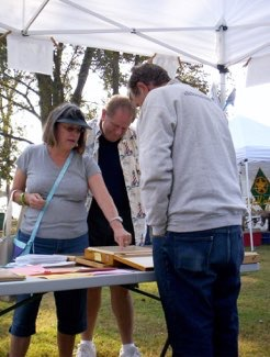 BCAS booth at Paddling Trail opening event