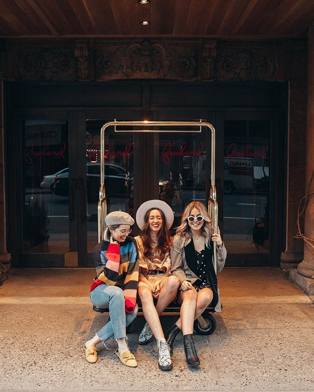 Can I have these two back already!?! @malloryonthemoon @kalynnelizabethsmith ⚡️ #freehandNY - - - - -#ImWearingRI #collab -#rainbow #uoonyou #dametraveler #newyork #ootd #yellow  #newyorkblogger #nyblogger  #thatsdarling  #abmlifeiscolorful #livefolk #liveauthentic #wearitloveit #ftwotw #blogger  #sayhello #ootdwatch #outfitoftheday #documentlife #humaneffect #streetstyle #nothingisordinary  #fblogger  #darlingweekend #oneofthebunch #livelikealocal #newyorker