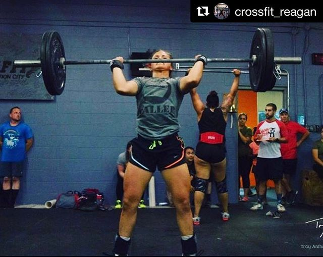 We have a Baller in the front and a Beast Mode in the background! Regan getting after her workout! Nice work! 💪🏻🙌🏻☝🏻 #Repost @crossfit_reagan with @repostapp ・・・ Two years ago this was my first competition where I got last in scaled. Saturday I competed in my 9th competition and got 3rd in women's Rx. Thank you to all my supporters, without the push I wouldn't be where I am today❤️