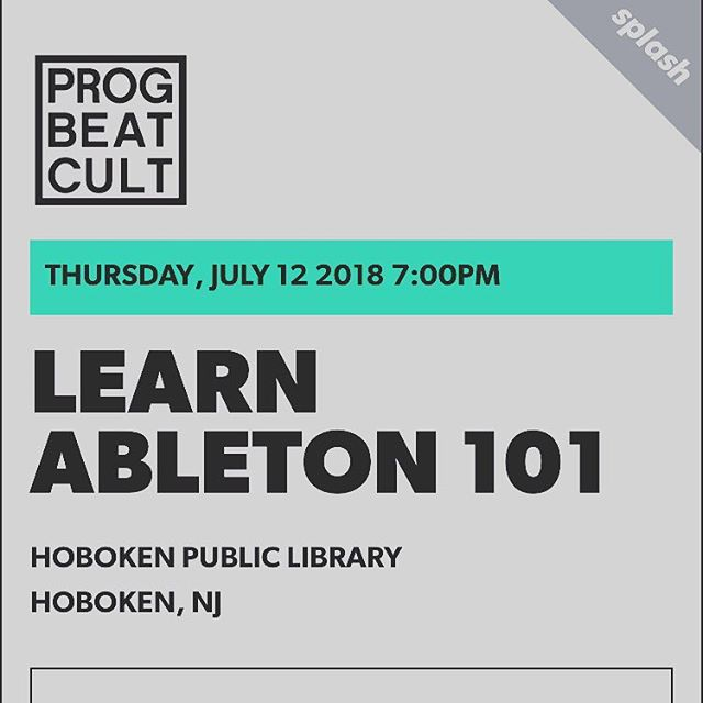 💥 Listen up @jmr.jcbs will be teaching the very essence of Ableton Music Software this Thursday at @hobokenlibrary If you tryna better your skills and techniques in the Ableton DAW be sure to RSVP (Link in Bio) and pull up to the workshop to learn a few techniques #progressivebeatculture #ableton #producer #music