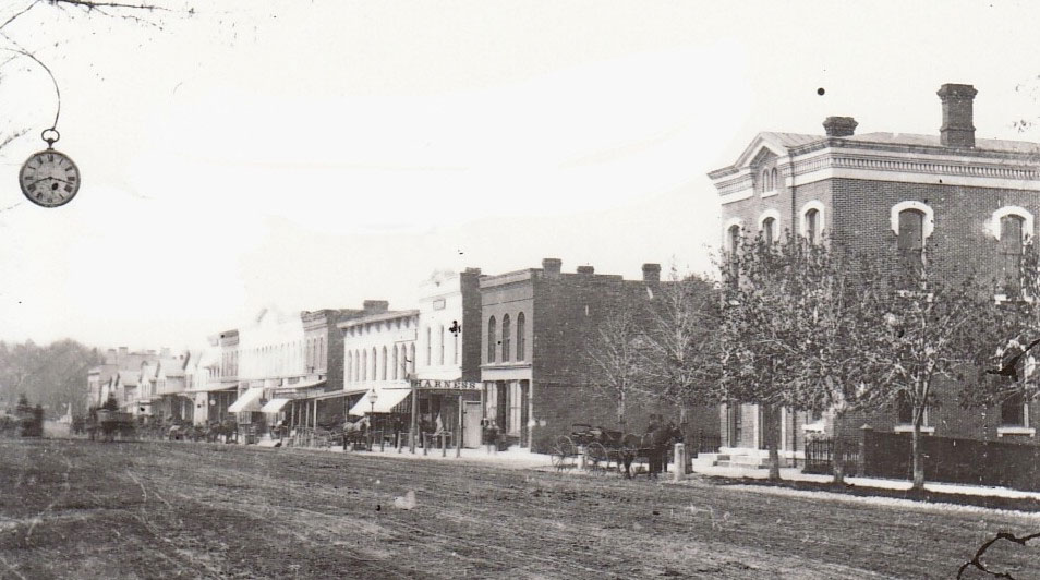 c. 1880, 66 Main (far right) looking south Courtesy of Livingston County Historian