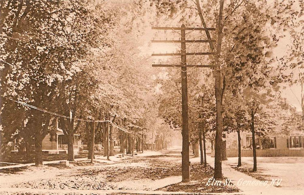 Elm Street, Early 1900's Courtesy of Jon and Liz Porter