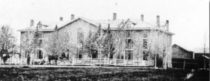 East building, c. 1850 Courtesy of APOG