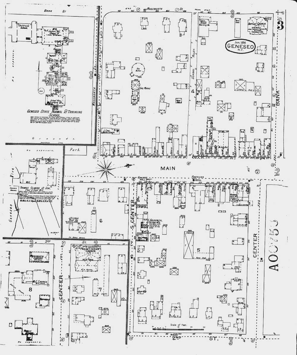 Geneseo in 1904— Sanborn Fire Maps