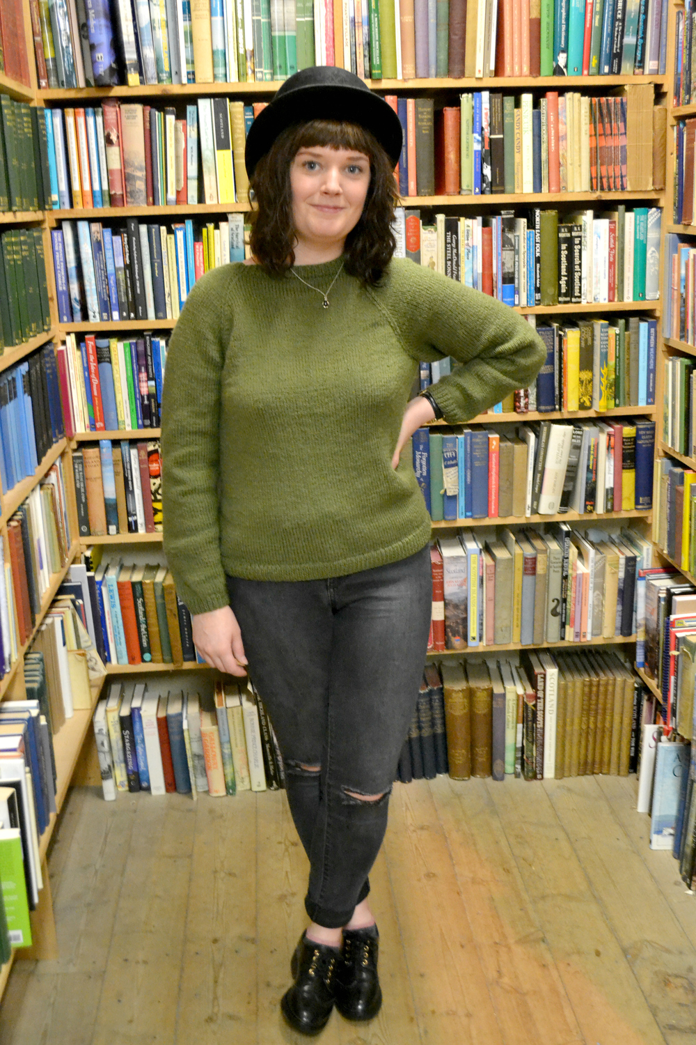 Hat - Vintage / Jumper - Knitted by my Granny! / Jeans - New Look / Brogues - TK Maxx