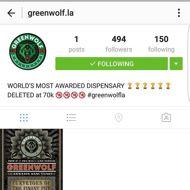 Everyone make sure to go follow the multuple award winning @greenwolf.la . Their account was delted by IG. Check them if your in LA. They always have the best fire on deck!  #atomik #atomik420 #atomikmoonrocks #moonrock #poweredbyweedmaps #Hightimes #cannabiscup #award #winning #moonrocks #infusedcannabis #sclabs #theclear #popnaturals #weedmaps #legalize #cannabis #420 #marijuana #mmj #nugporn #strongaf #takeyourhightothenextlevel #rewardyourself #⚛