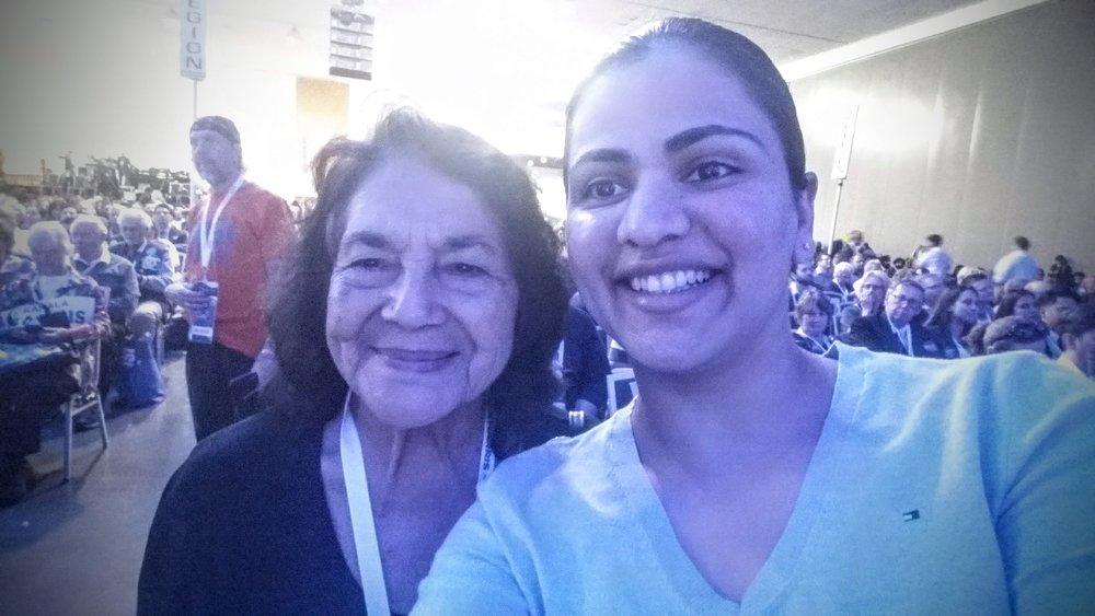 Legendary Labor Leader Dolores Huerta and Aisha