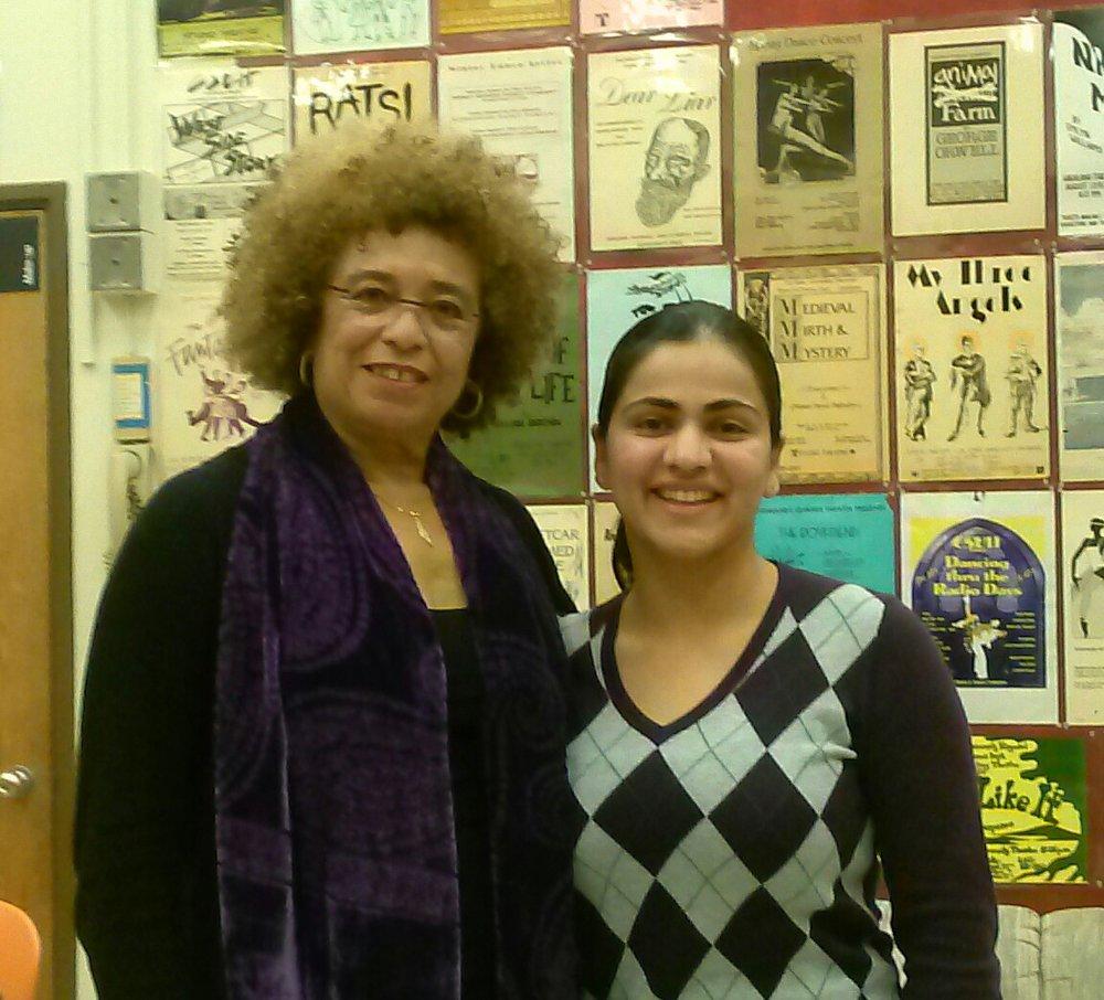 Activist Angela Davis and Aisha