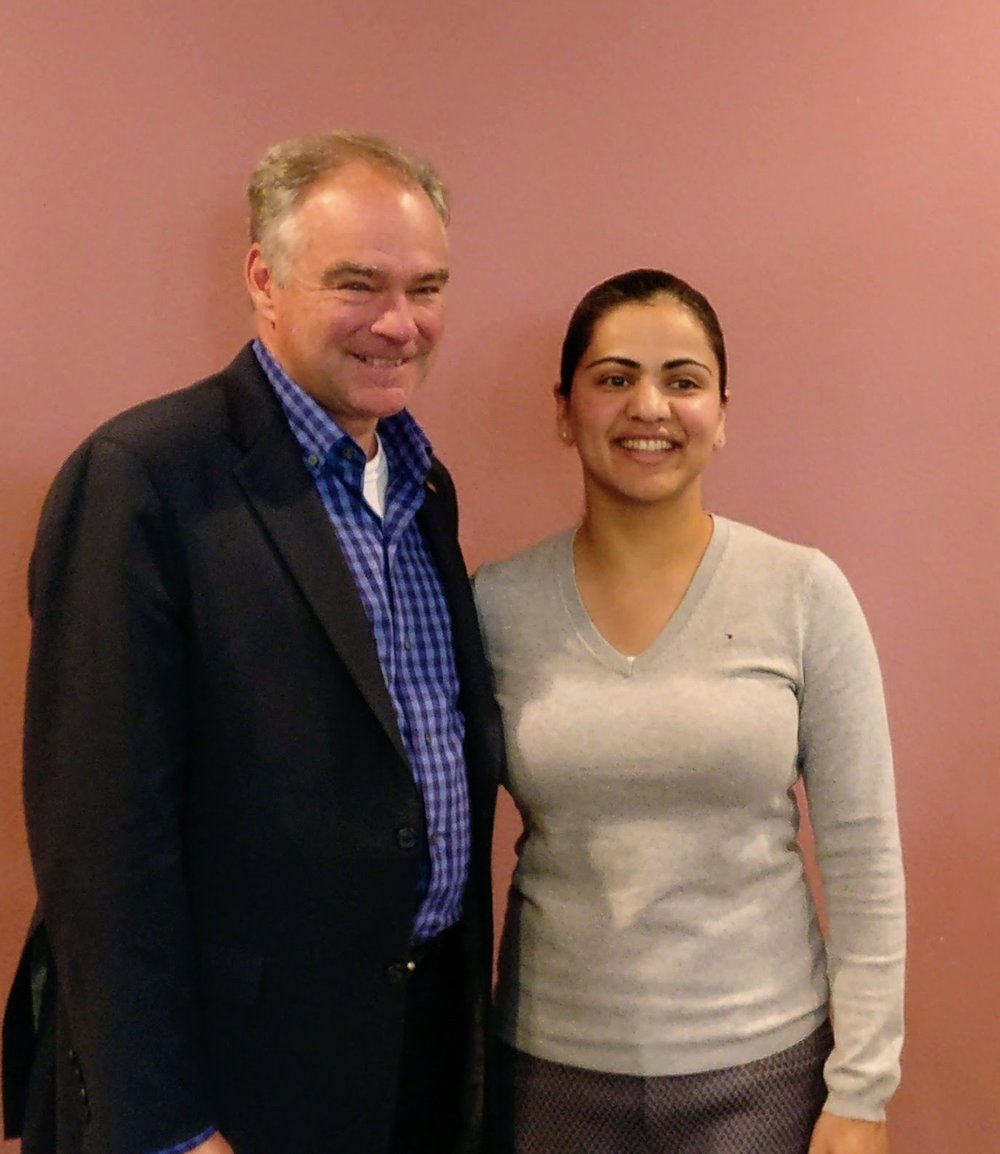 Senator Tim Kaine & Aisha