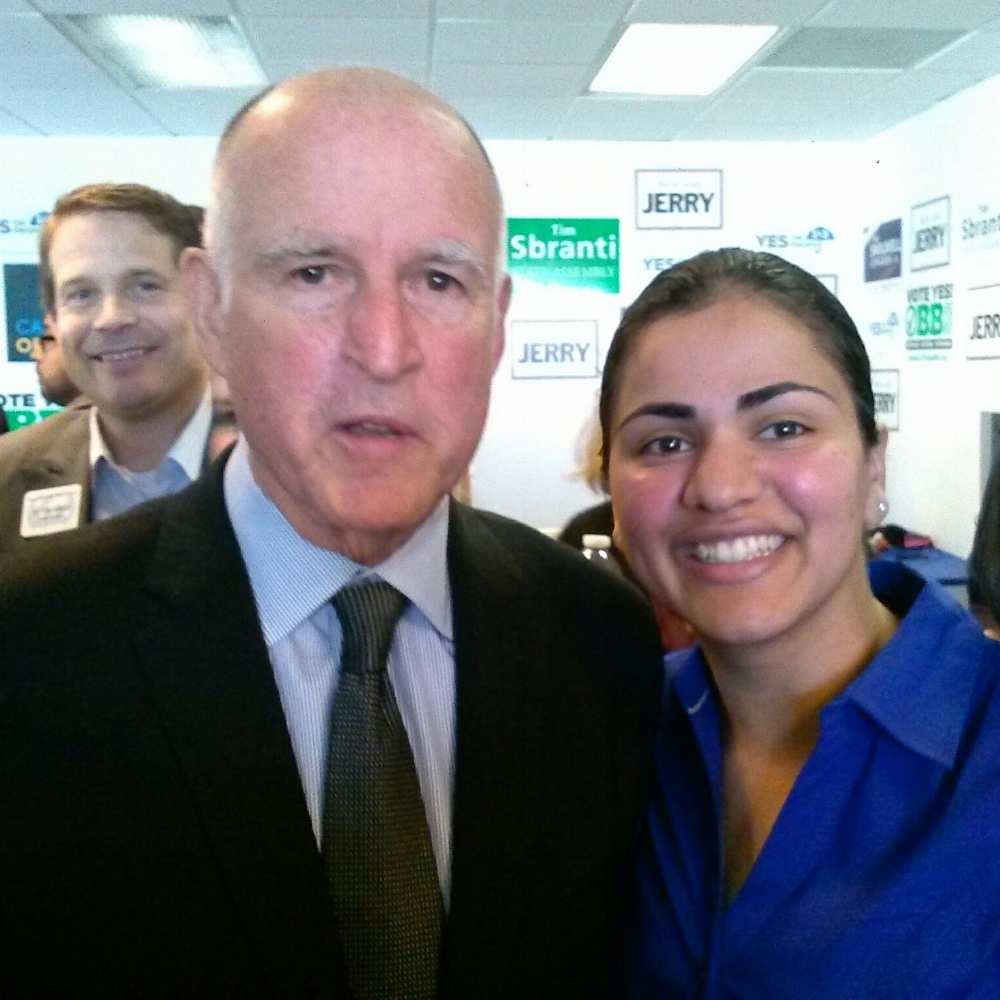 Jerry Brown and Aisha Wahab