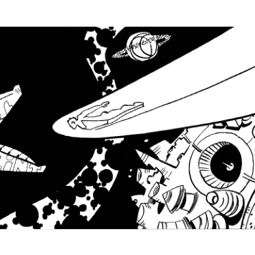 Re-Infinity   An 8-page short story illustrated by Tim Fish. A space opera with epic interpersonal drama.