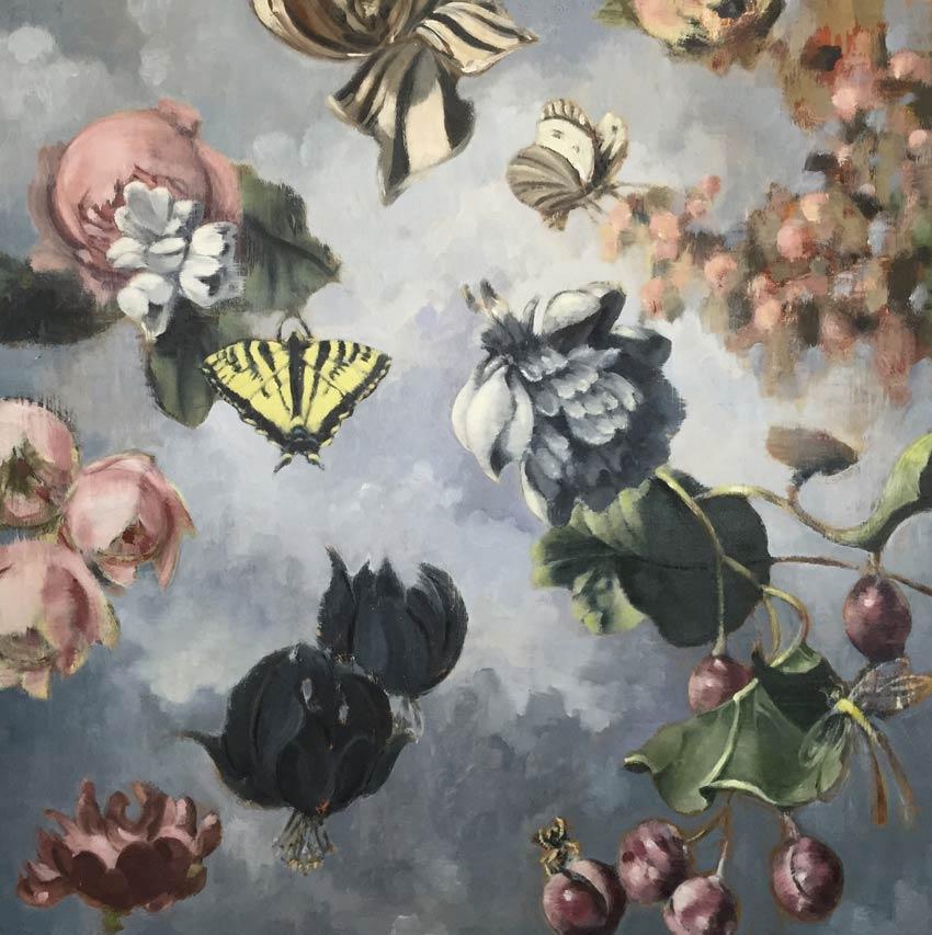 """LAST PARADISE II oil on panel  30 x 30""""  2016"""