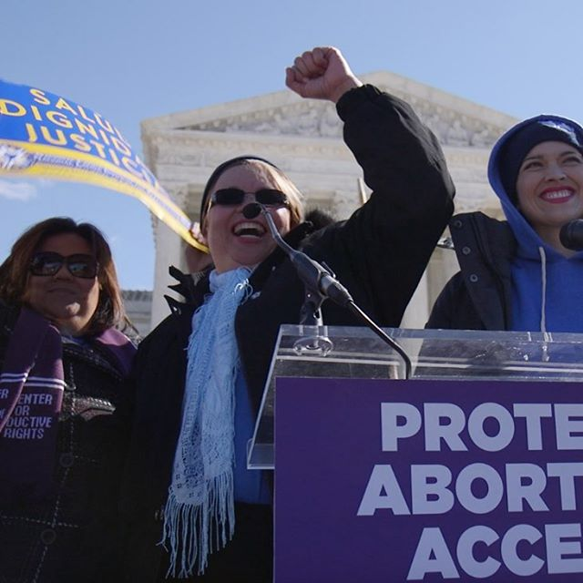 Meet Lucy, she works with the National Latina Institute for Reproductive Health and volunteers to teach women in the Rio Grande Valley about contraception, sexual health, and cancer screenings where there is no doctor available for miles. Here's Lucy speaking on the steps of Supreme Court during the hearing of #wholewomanshealthvhellerstedt case. Catch more of Lucy in our docuseries, The Last Clinics!  #womenshistorymonth #herstory