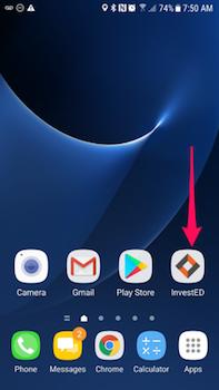 Appuyez sur l'icône de l'application Mosabi sur votre téléphone.