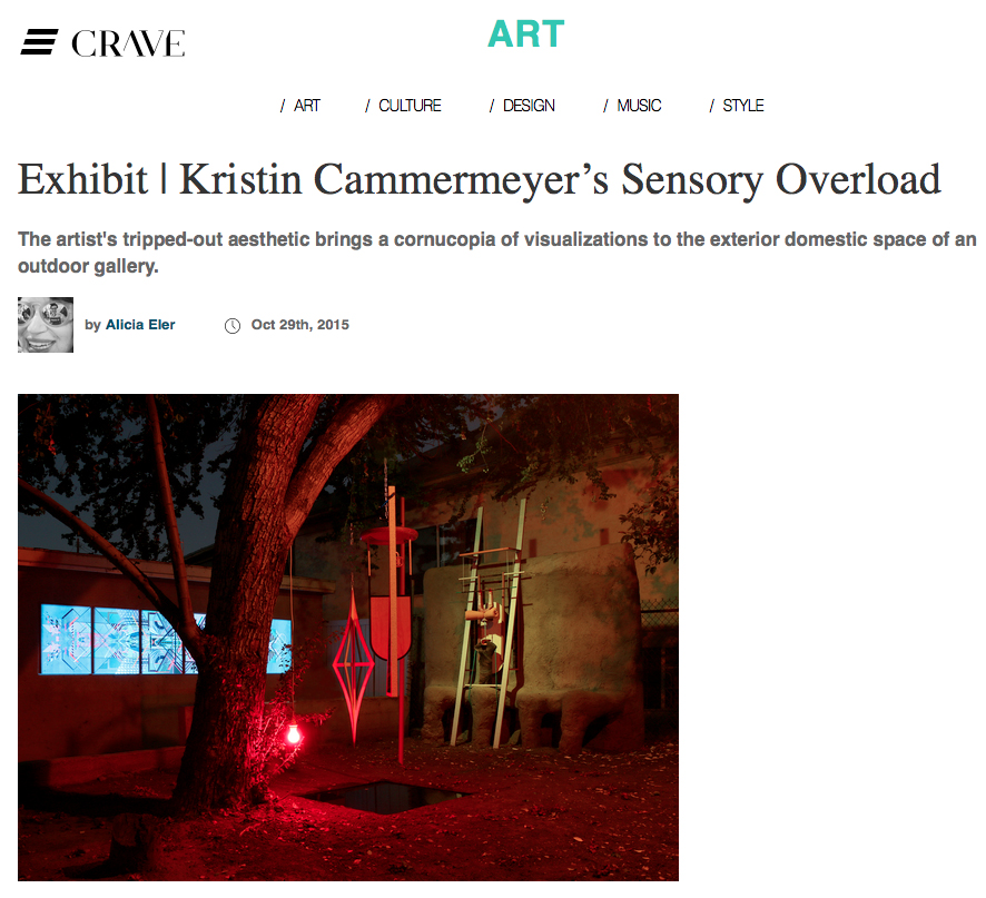 Exhibition review by Alicia Eler for CRAVE