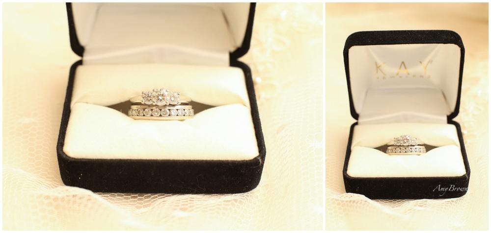 Kay Jewelers, Platinum and White Gold Wedding Set