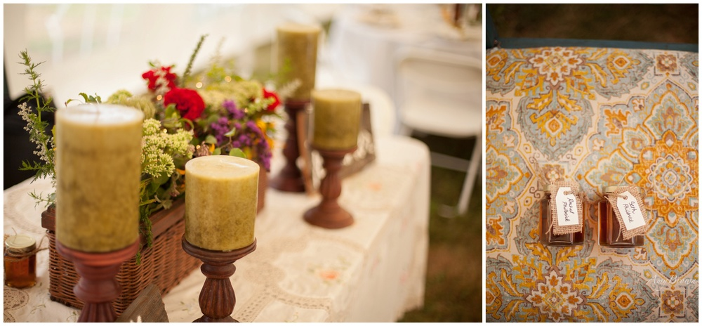 Southern NH Wedding Photographer | DIY wedding decor | Amy Brown Photography