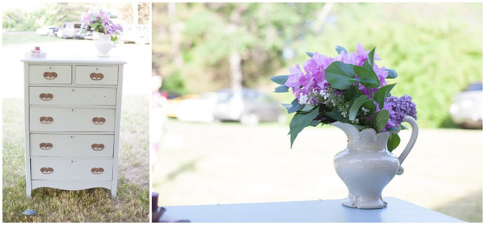Rye NH Wedding Photographer | DIY victorian wedding decor | Amy Brown Photography